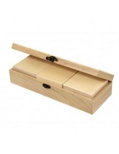 Lot de 4 boîtes en bois - 2...