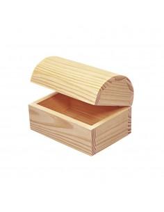 Coffre en bois - 13 x 9 x 9 cm