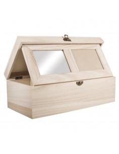Boîte en bois avec miroir &...