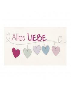 "Motif de Cire ""Alles Liebe""..."