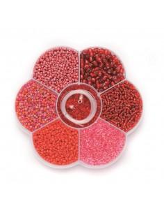 "Mix de Perles ""Rouge"""