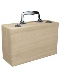 Valise en bois avec anse en...