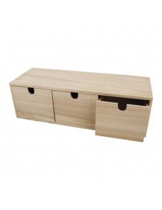 Commode en bois à 3 tiroirs...