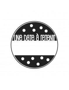 """Tampon en Bois """"Une date à..."""