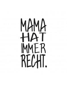 "Tampon en Bois ""Mama hat..."