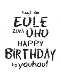 "Tampon en Bois ""Birthday to..."