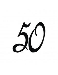 """Tampon en Bois """"50"""" - 3 x 3 cm"""