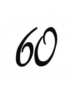 """Tampon en Bois """"60"""" - 3 x 3 cm"""