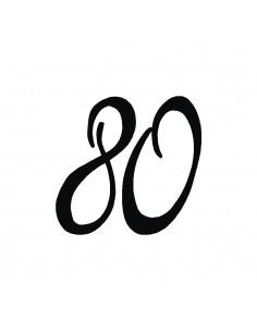 """Tampon en Bois """"80"""" - 3 x 3 cm"""