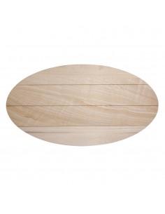 Planche ovale latte de bois...