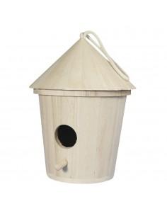 Nichoir d'oiseaux en bois -...