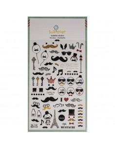 "Stickers ""Mustache"" - 15 x..."