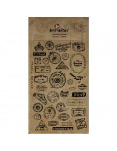 "Stickers ""Stamp"" - 15 x 9.2 cm"