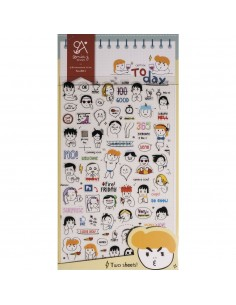 """Stickers """"Today"""" - 15 x 9.2 cm"""