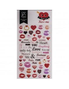"Stickers ""Kiss me"" - 15 x..."