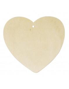 Cœurs en bois - 0.4 cm -...