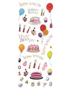 """Stickers 3D """"Happy Birthday"""""""