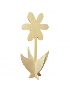 Fleur en bois 3D - 35 cm