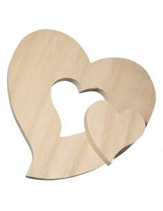 Cœur en bois avec centre...
