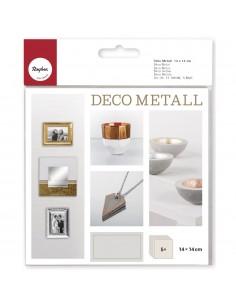 """Déco Métal """"Or"""" - 14 x 14 cm"""