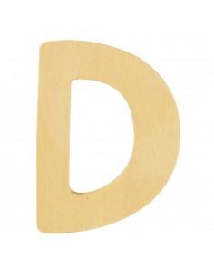 """Lettre """"D"""" en bois - 6 cm"""