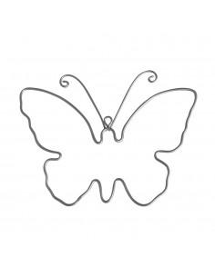 Papillons en fil de fer -...