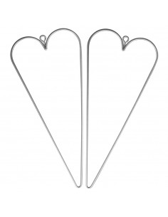 Cœurs en fil de fer - 16 x...