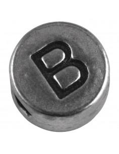 """Perle métallique B """"Argent""""..."""