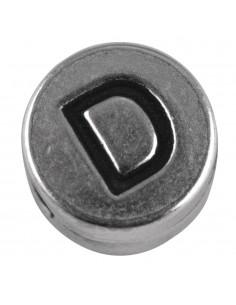 """Perle métallique D """"Argent""""..."""
