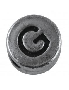 """Perle métallique G """"Argent""""..."""