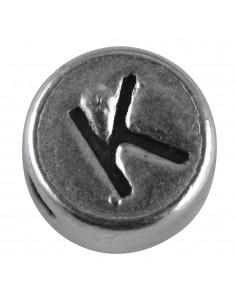 """Perle métallique K """"Argent""""..."""