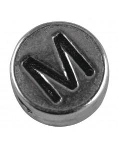 """Perle métallique M """"Argent""""..."""