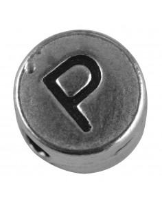"""Perle métallique P """"Argent""""..."""