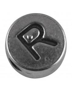 """Perle métallique R """"Argent""""..."""