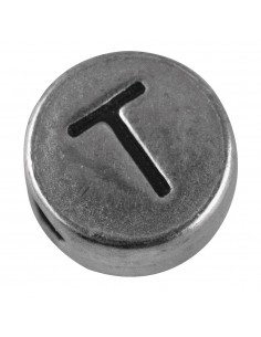 """Perle métallique T """"Argent""""..."""