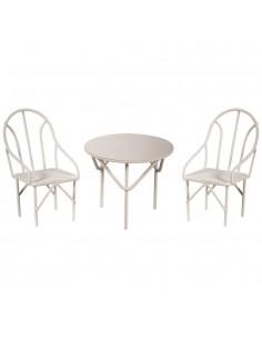 "Chaises & Table ""Blanc"" - 6..."