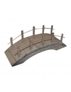 Pont en bois - 10 x 4 x 4.5 cm