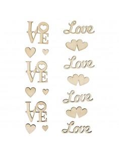 """Écritures en bois """"Love"""""""