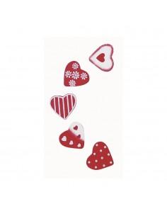 Cœurs en bois - 2 x 2.5 cm