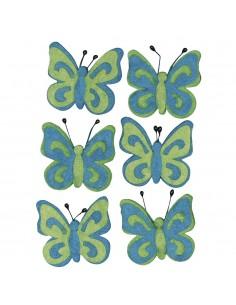 "Papillons en feutrine ""Bleu..."