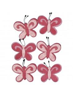 """Papillons en feutrine """"Rose..."""