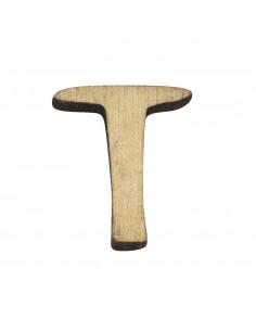 """Petite lettre """"T"""" en bois -..."""