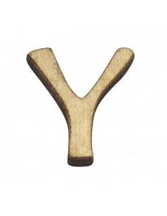 """Petite lettre """"Y"""" en bois -..."""