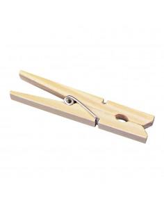 Pinces à linge en bois - 72 mm
