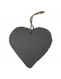 Cœur en ardoise - 14 x 14.5 cm