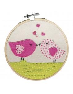 "Broderie ""Love Birds"" - Ø..."