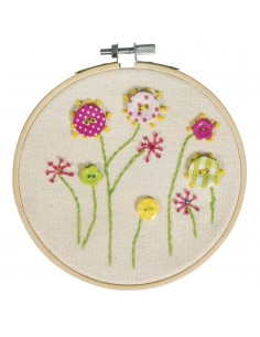"Broderie ""Fleurs"" - Ø 13 cm"