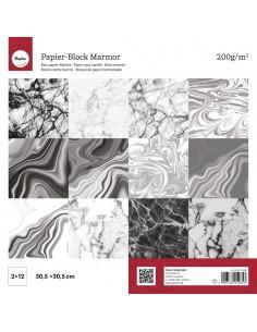 Bloc de Papier Marbré - 200...