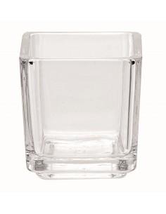Photophore Carré en verre -...