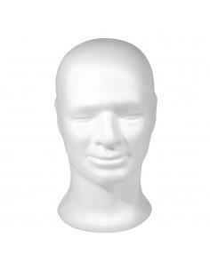 Tête d'homme en polystyrène...